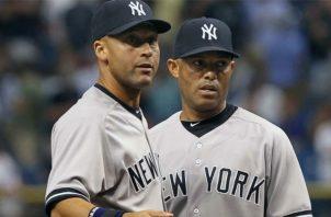 Derek Jeter y Mariano Rivera. Foto:AP