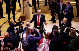 Donald Trump ha dicho en reiteradas ocasiones que ningún estadounidense resultó herido en el ataque con misiles iraníes el 8 de enero. FOTO/AP