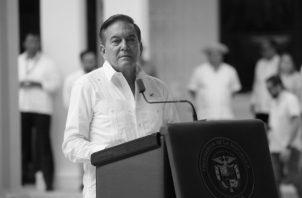 El presidente Laurentino Cortizo dijo en un consejo agropecuario el martes 21 de enero en Chiriquí, que como lo pongan a prueba los va a botar y serán llevados al Ministerio Público. Foto: Víctor Arosemena. Epasa.