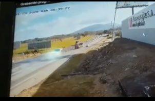 Accidente se registró en la entrada de Gorgona