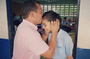 Luis Casis junto a Andrea Quijada. Foto: Instagram