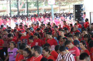 Los jóvenes se reunieron por espacio de cuatro días en las inmediaciones de la Feria de Azuero. FOTO/THAYS DOMÍNGUEZ