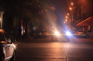 El hecho se dio en el sector E de la comunidad de La Cresta en el corregimiento de Cristóbal, pasadas las 7:00 de la noche. Foto/Diomedes Sáncheze