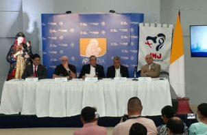 Conferencia de prensa del informe financiero de la JMJ. Foto/ Víctor Arosemena