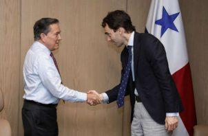 El presidente de la República, Laurentino Cortizo Cohen, le dio la bienvenida al empresario español y le agradeció el interés de invertir en Panamá.