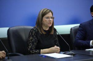 Rosario Turner confirmó que no se han registrado casos de coronavirus en Panamá. Foto: Ministerio de Salud.