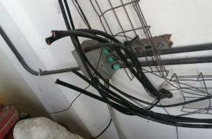 Según informó el Ministerio Público el sujeto había sido reincidente en eta práctica de robo de cables.
