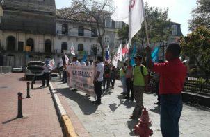 Se manifestaron pacíficamente. Foto: KW Continente