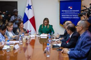 Miembros del Conato se reunieron con la ministra de Trabajo. Foto de Cortesía