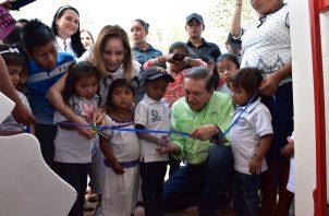 Presidente Nito Cortizo y Ministra de MIDES inauguran 4 CAIPI's. Foto: Mides.