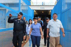 Tras la fuga de Gilberto Ventura Vega, realizan inpección en centros penales. Foto: Ministerio de Gobierno.