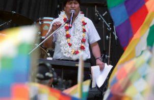 El expresidente Evo Morales, busca la candidatura para el senado en Bolivia, pero su petición está bajo observación por el tribuna Supremo Electoral. FOTO/EFE