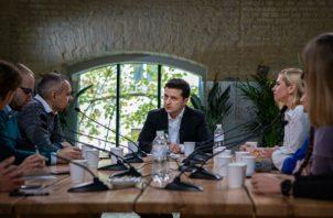 El presidente Zelensky ve obstáculos en sus esfuerzos por erradicar la corrupción. Foto / Lena Mucha para The New York Times.