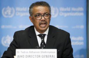 El director general del organismo, Tedros Adhanom Ghebreyesus, anunció el cambio de nombre. FOTO/EFE