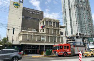 El incidente en el edificio no pasó a mayores.