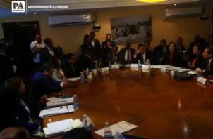 La intervención de Raúl Pineda se registró en la Comisión de Credenciales.