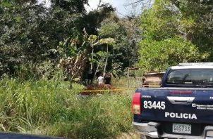 El lunes se llevó a cabo una reinspección en el área donde fue encontrado el cuerpo del joven. FOTO/ERIC MONTENEGRO