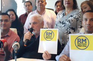 El expresidente Ricardo Martinelli confía en que el partido lo van a inscribir en un día.