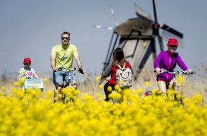 Los Países Bajos podría tener 42 millones de turistas para el 2030. Foto / Koen Van Weel/EPA, vía Shutterstock.