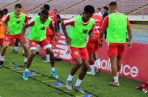 Jugadores de Panamá en los entrenamientos. Foto@Fepafut