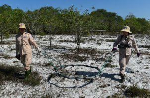Recientemente se retiraron minas terrestres de la guerra de Vietnam. Foto / Nhac Nguyen/Agence France-Presse — Getty Images.