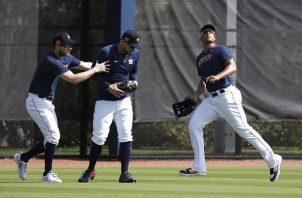 Jugadores de Astros en pretemporada. Foto:AP