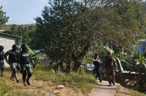 Unidades policiales mantienen sendos operativos en el área de El Chumical. @protegeryservir