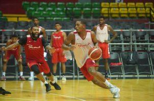 Jugadores de Panamá en los entrenamientos en la arena Roberto Durán. Foto@Fepaba.