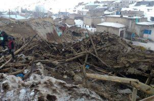 Varias viviendas resultaron afectadas. Foto: EFE
