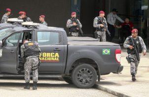 Tropas de la Fuerza Nacional llegan este jueves a la ciudad de Fortaleza, en el estado Ceará  FOTO/EFE
