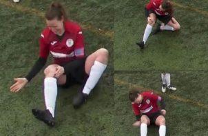 Jane O'Toole durante el juego.