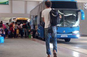 Este año pasaron 18 mil pasajeros más por la terminal de transporte que el año pasado. Foto: Belys Toribio