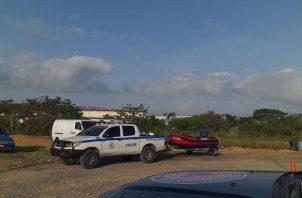 En la embarcación artesanal iban cinco personas, cuatro de ellas se salvaron.