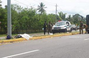 Con la muerte de este ciudadano aumenta a siete el número de víctimas por accidente de tránsito en lo que va del año en la provincia de Chiriquí. FOTO/MAYRA MADRID
