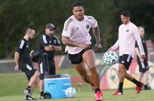 Román Torres durante un entrenamiento.