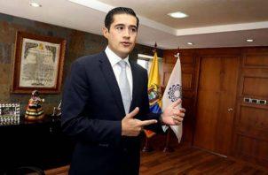 El ministro de Economía de Ecuador, Richard Martínez. Foto/EFE