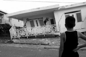 Destrucción provocada por el sismo del martes 7 de enero de 2020 en la costa de Guánica, municipio del suroeste de Puerto Rico. Foto: EFE.
