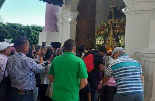 El Jesús Nazareno llena de fe y esperanza a los feligreses. Melquíades Vásquez