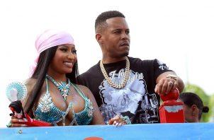 Nicki Minaj y Kenneth Petty. Foto: EFE
