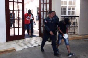 Los tres sujetos una vez se dicta la condena interpuesta fueron enviados al Centro Penal de Chiriquí donde deberán permanecer. FOTO/MAYRA MADRID