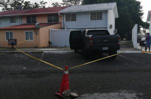 La casa del exasesor panameñista está vigilada por la Policía Nacional. Foto/Diomedes Sánchez