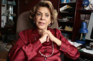 Rosa María Britton (1936-2019).Destacada médica y escritora panameña. Ganó varios premios  Ricardo Miró. Foto Panamá América