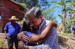 El presidente Laurentino Cortizo visitó este sábado Hato Chamí, en la Comarca Ngäbe-Buglé.