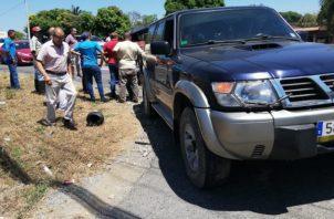 La víctima viajaba en su motocicleta cuando a la altura de la entrada de la Barriada Doña Fela impactó contra un vehículo tipo camioneta que realizó  un giro prohibido