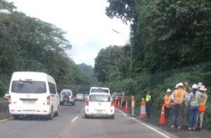 Los trabajos por los cuales se cerrará la Interamerciana a la altura de  Loma Cová se harán  de 12 m.d a las 2 de la tarde.