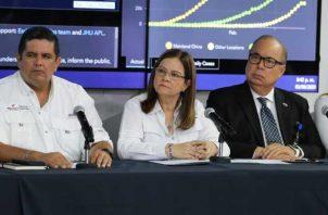 La ministra de Salud, Rosario Turner, anunció el lunes 9 de febrero el primer caso de coronavirus en Panamá. Foto EFE