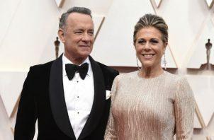 Tom Hanks y la actriz Rita Wilson. Foto/ AP
