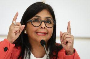 Coronavirus en Panamá: Vicepresidenta del Gobierno de Venezuela, Delcy Rodríguez. FOTO/EFE