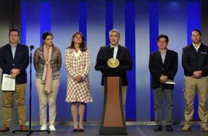 Coronavirus en Panamá: El presidente Iván Duque junto a sus ministros de estado informan sobre las medidas que se han tomado para la contención del coronavirus. FOTO/EFE