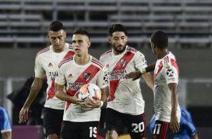 River Plate viene de vencer al Deportivo Binacional de Perú por 8-0 en la Copa Libertadores. Foto AP